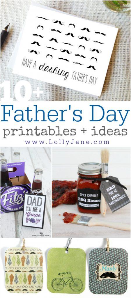 10+ Father's Day printables + ideas via @lollyjaneblog