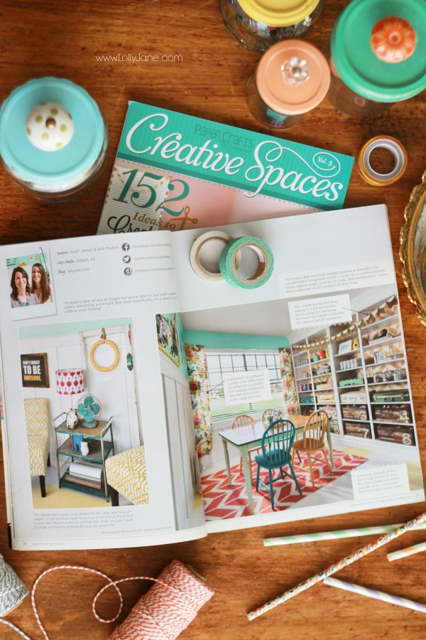 Awesome mag full of craft spaces! | via lollyjane.com