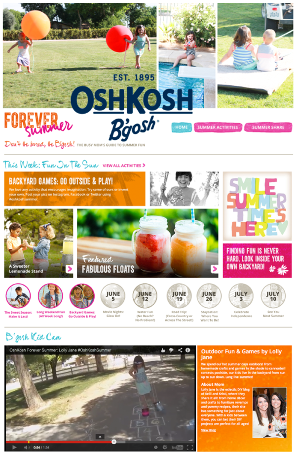 Love the Forever Summer site by Osh Kosh B'Gosh!