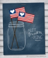 Cute (FREE) patriotic mason jar printable perfect for the 4th! via @lollyjaneblog #4thofJuly #printable