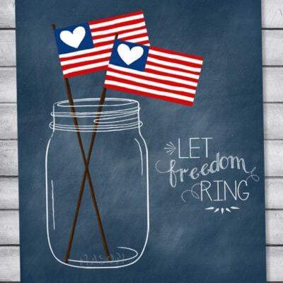 Patriotic mason jar printables {free!}