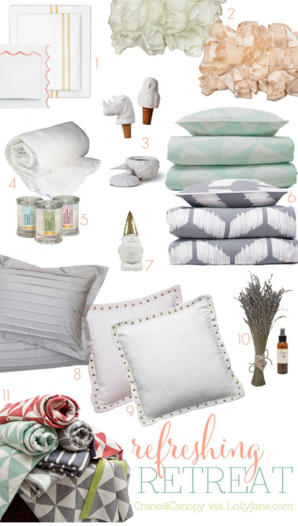 Love these gorgeous items that would make an absolutely refreshing retreat! via @lollyaneblog