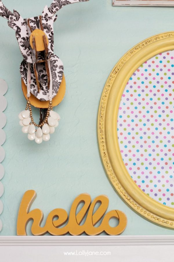 Turn a thrifted frame to a cute dry-erase board in less than 30 minutes! via @lollyjaneblog