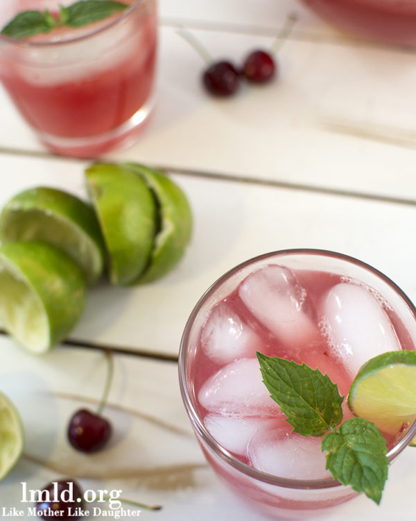 Mint Cherry Limeade, yum!! |via lollyjane.com