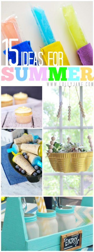 15 fun summer ideas via @lollyjaneblog