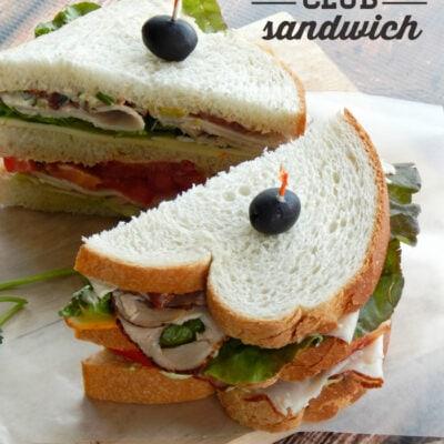 Southwestern club sandwich