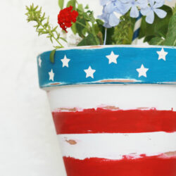 stars + stripes patriotic flower pot