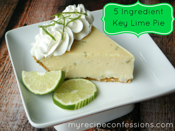 Key Lime Pie... only 4 ingredients! | myrecipeconfessions.com