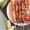 Chipotle Lime Chicken Skewers, perfect for grillin' and chillin' summer nights! via lollyjane.com