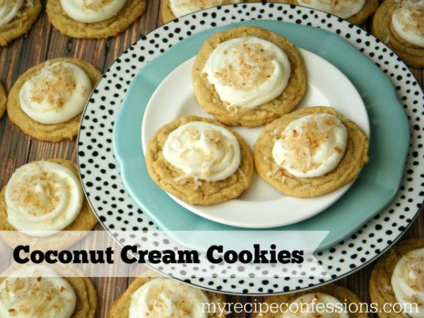 Coconut Cream Cookies | MyRecipeConfessions.com