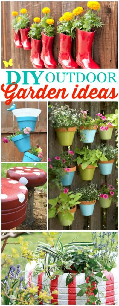 DIY outdoor garden ideas, so cute and clever!!