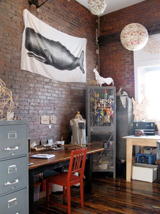 industrial style home office. industrial man cave, home office style