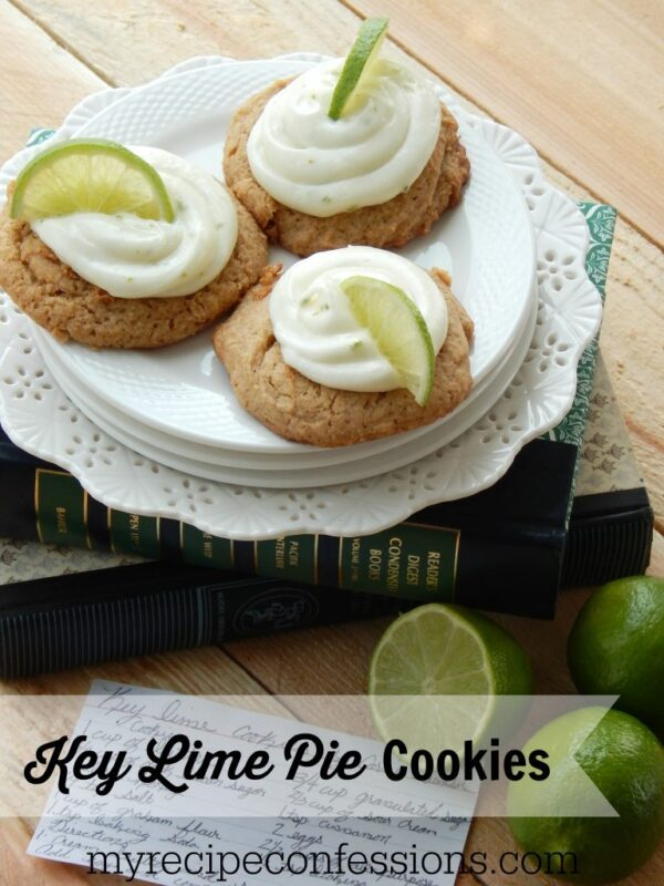 Key Lime Pie Cookies | myrecipeconfessions.com