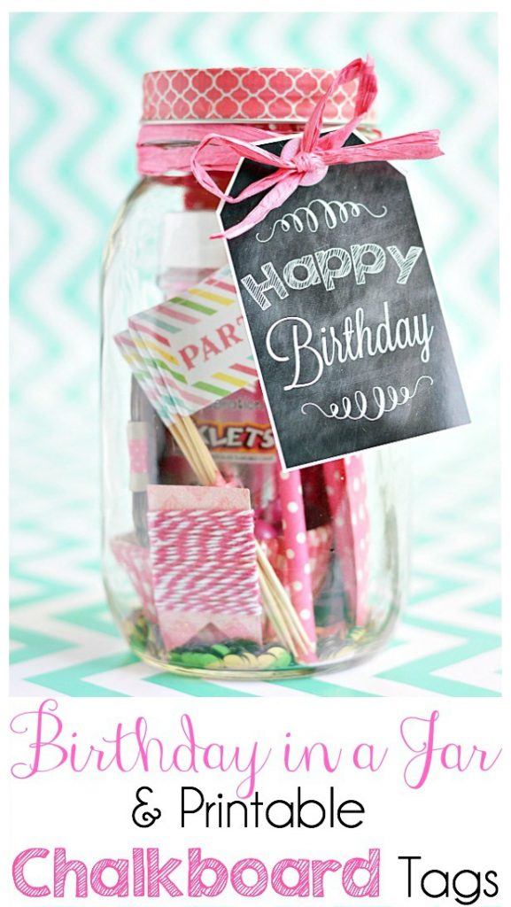 Birthday Mason Jar Gift idea