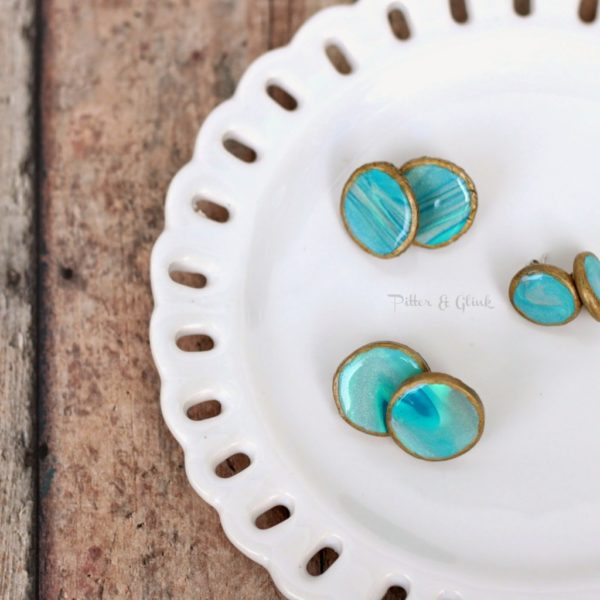 Round Clay Polymer Earrings