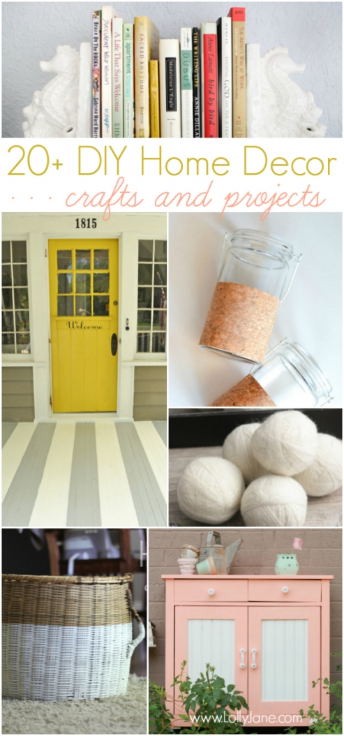20+ DIY home decor ideas