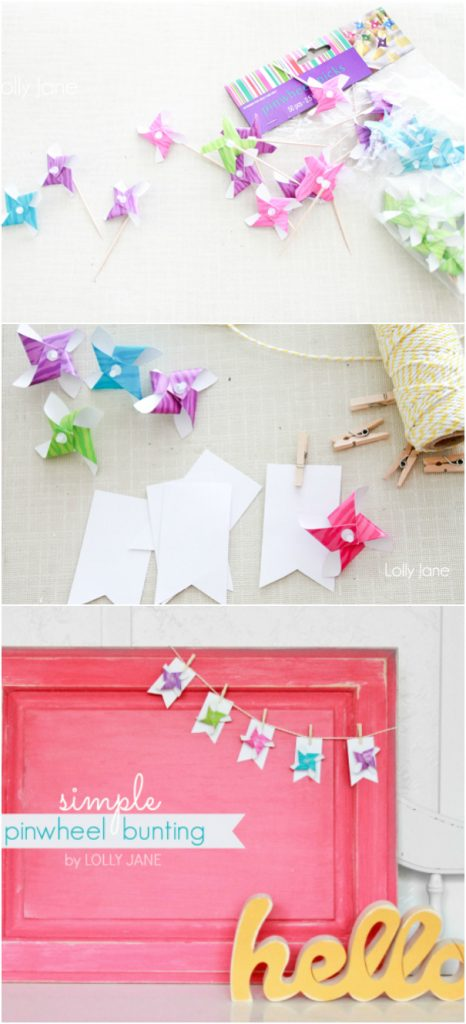 simple pinwheel bunting