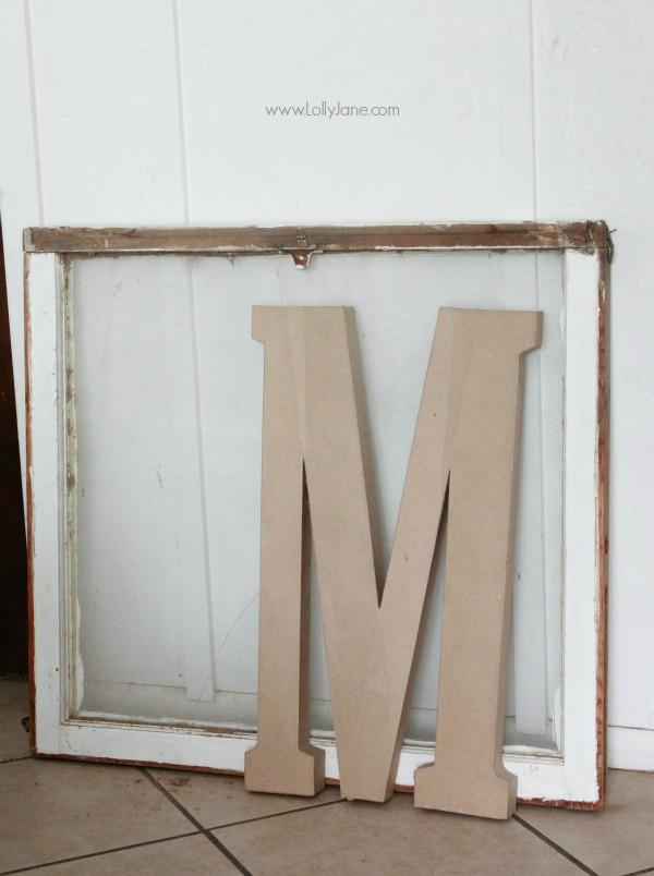 DIY grain sack monogram   tutorial via lollyjane.com