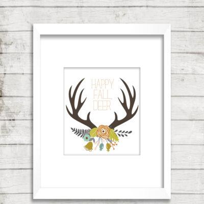 fall antler art | free printable