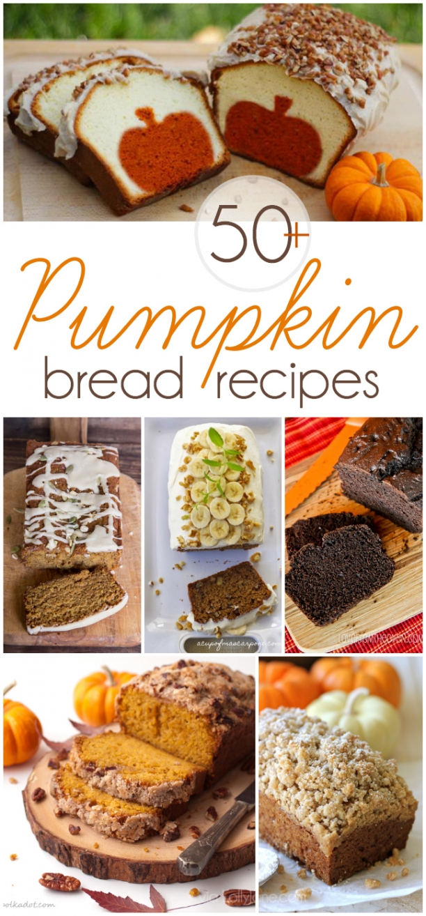 The BEST of all those pumpkin bread recipes! Over 50+ YUMMY recipes! |via lollyjane.com