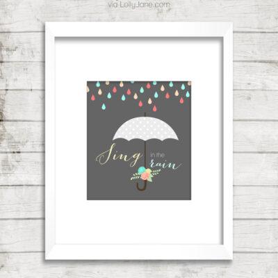 Sing in the Rain | Free Printable