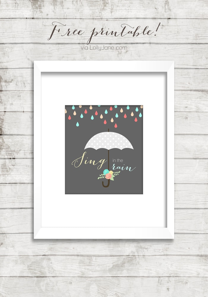 Sing in the Rain | Free Printable