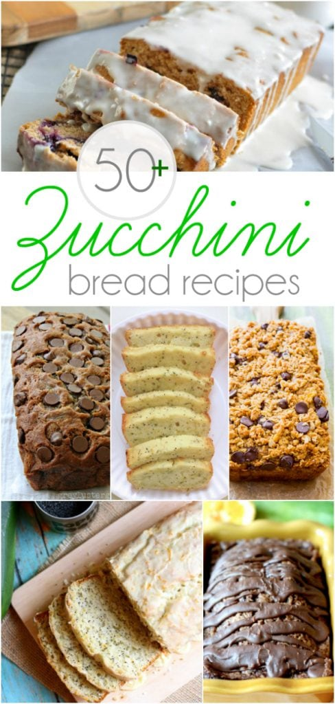 The BEST of all those zucchini bread recipes! Over 50+ YUMMY recipes!