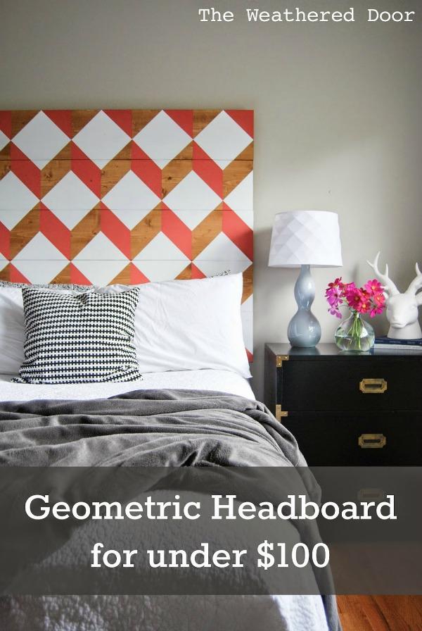 Pretty geometric headboard!