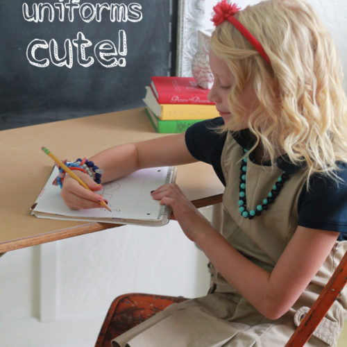 how to make school uniforms cute