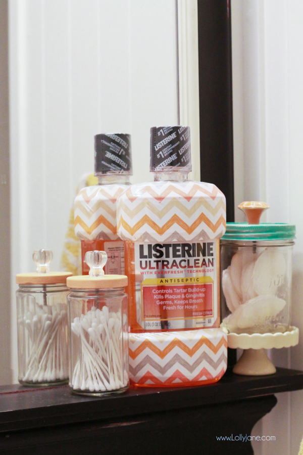 Bathroom accessories- who knew mouth wash could be so chic?