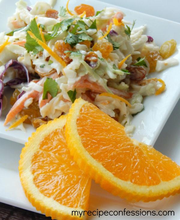 Orange Cilantro Coleslaw | myrecipeconfessions.com