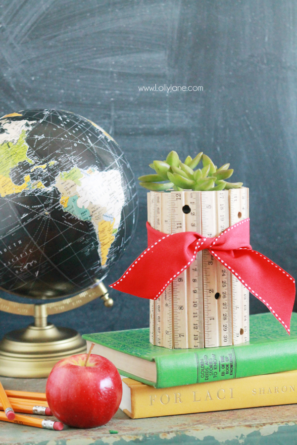 Make a quick ruler vase for that special teacher in your life   full DIY on LollyJane.com