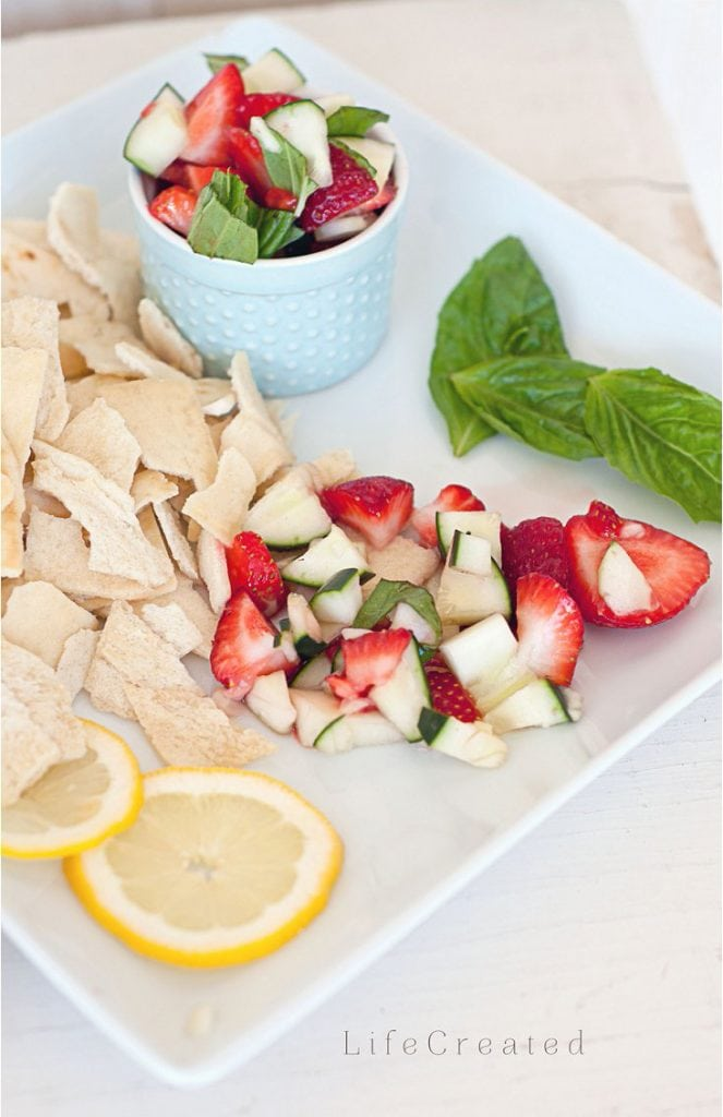 Delicious strawberry cucumber summer salad