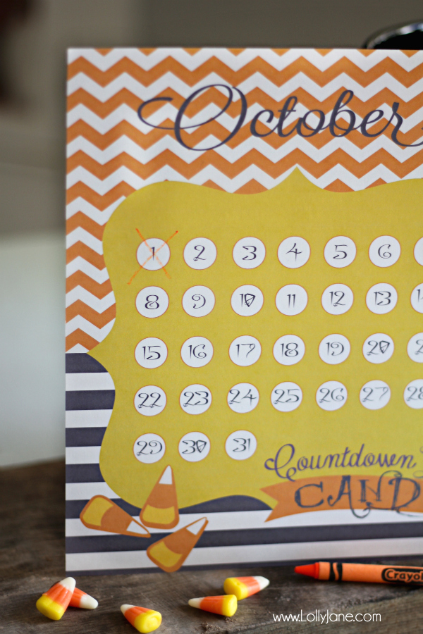 Cute Halloween countdown   free printable