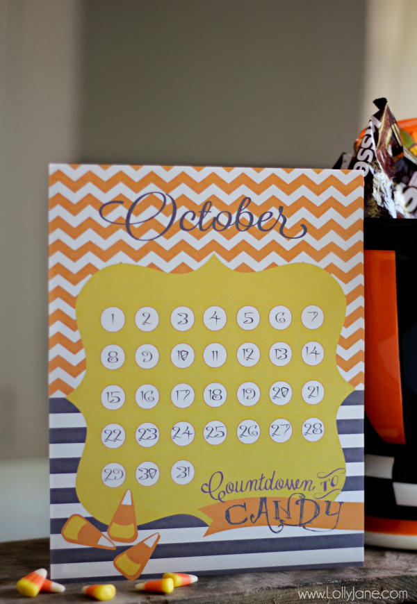 Cute Halloween countdown | free printable