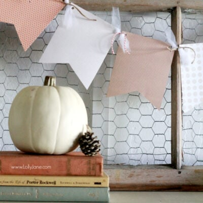 easy fall bunting
