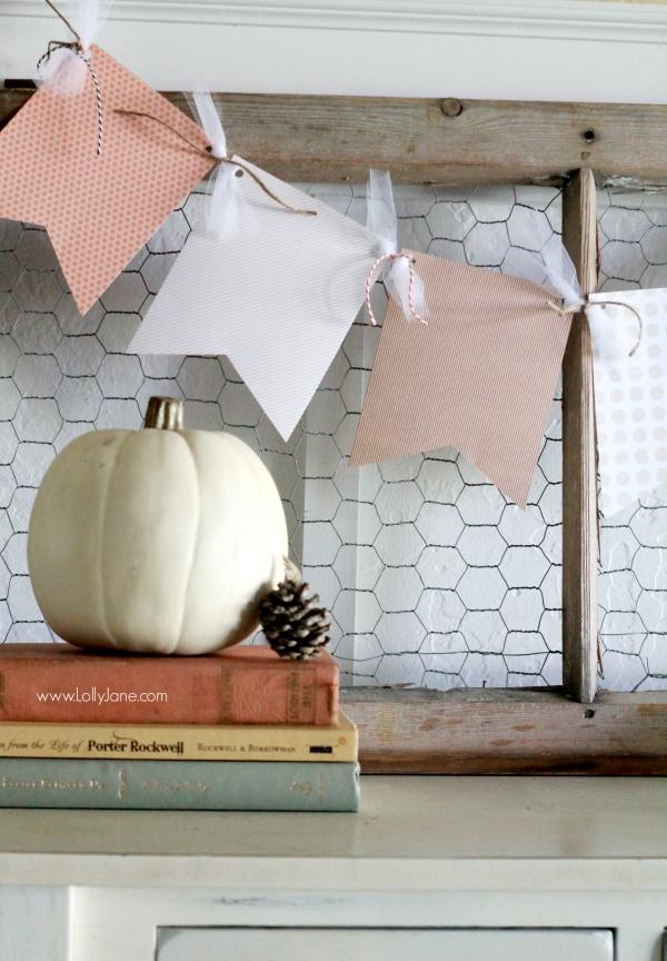 Fall Paper Bunting
