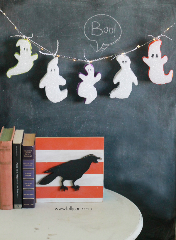 Foam ghost bunting | tutorial via lollyjane.com