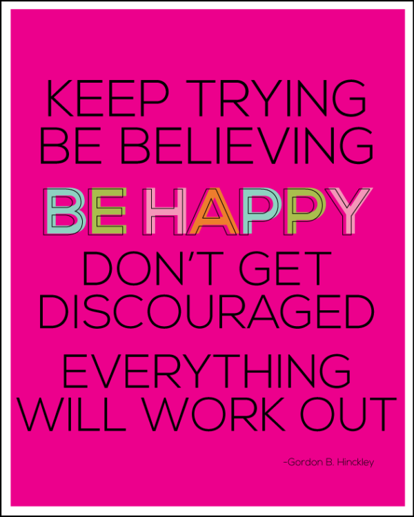 Keep Trying, Be Believing