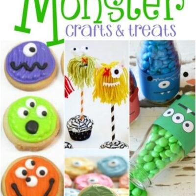 35 + Monster Crafts & Treats