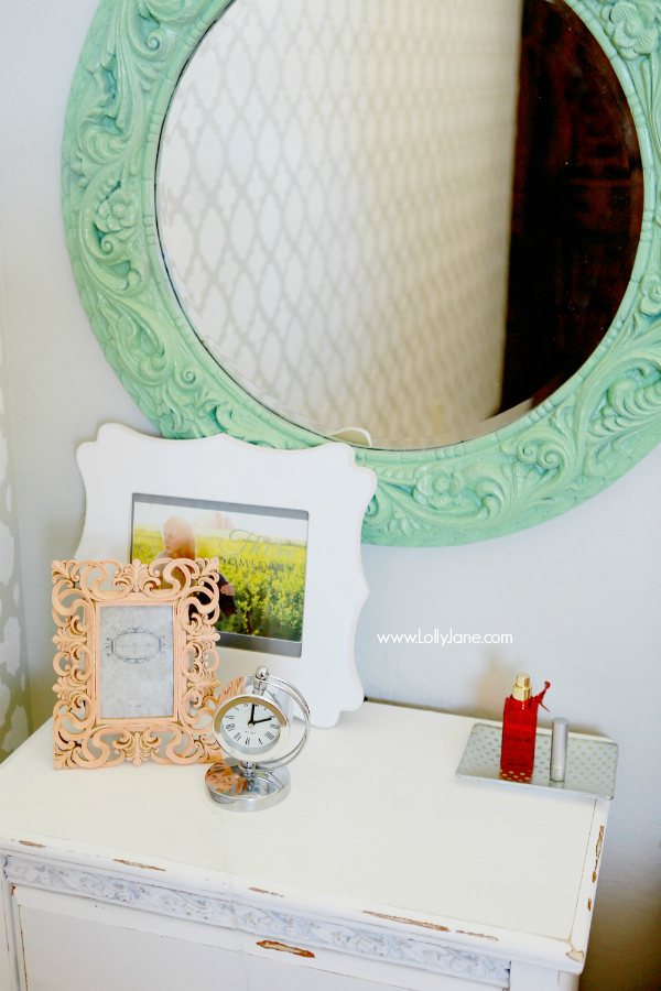 Mint Mirror Makeover Lolly Jane