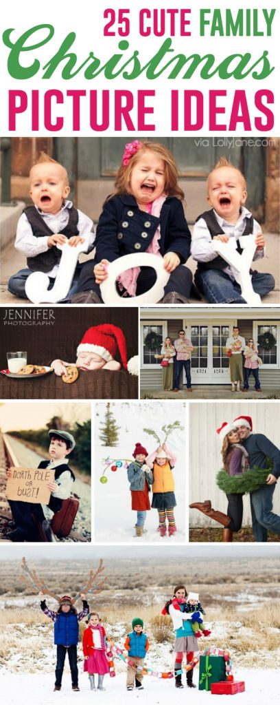 25 MORE Cute Family Christmas Picture Ideas |via LollyJane.com