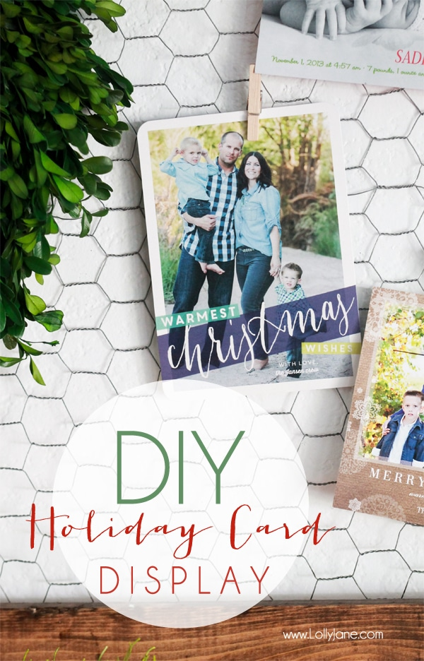 DIY Christmas U0026 Holiday Card Display