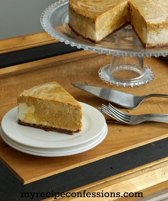 Marbled Pumpkin Cheesecake recipe | Soooo good and full of flavor ...