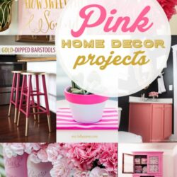 20+ pink home decor projects
