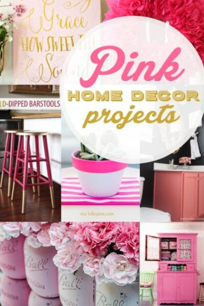 16+ PINK home decor ideas!