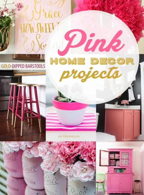 16+ PINK home decor ideas!