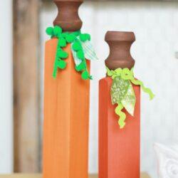 wood spindle pumpkins