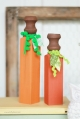 Wood Spindle Pumpkins, easy and fun craft! | lollyjane.com