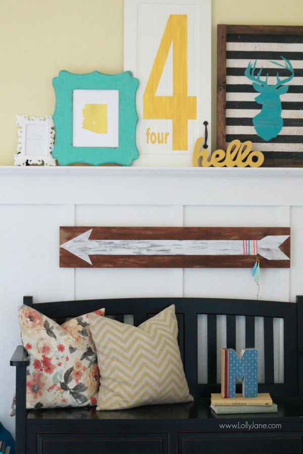 "DIY | hand painted arrow sign ---> lollyjane.com"" width=""600″ height=""900″></p> <p style="